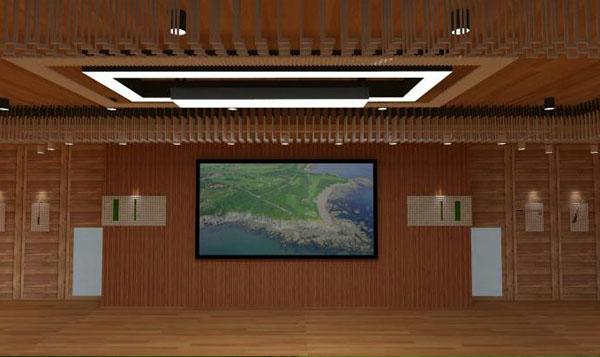 金石高尔夫服务中心(木屋)内部木装修