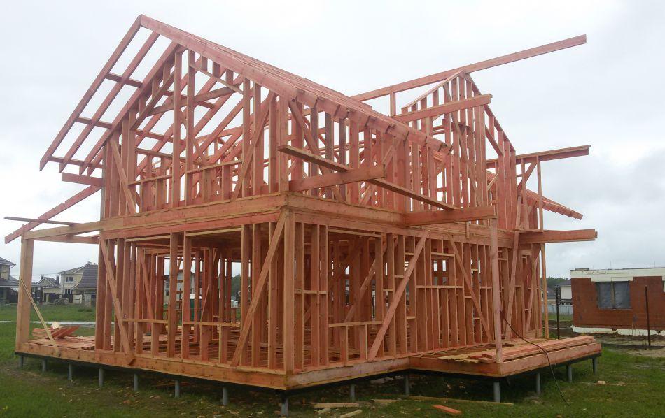 大连木屋木别墅木房子地基