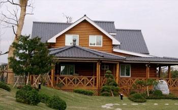 原木木结构生态木别墅