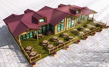 重型木结构生态木别墅